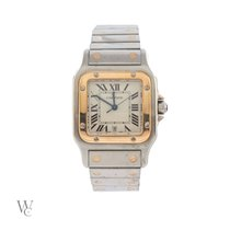 Cartier Santos Galbée pre-owned 27mm Gold/Steel