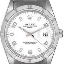 Rolex Oyster Perpetual Date pre-owned 34mm White Date Steel