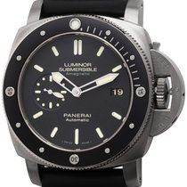 Panerai Luminor Submersible 1950 3 Days Automatic pre-owned 47mm Black Date Buckle