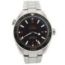 Omega Seamaster Planet Ocean pre-owned 45.5mm Black Date Steel