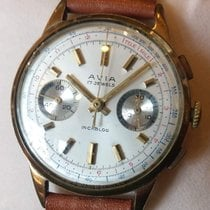 Avier Yellow gold 36mm Manual winding Avia pre-owned