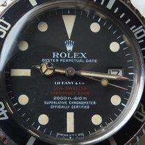 Rolex Sea-Dweller 1665 Sea Dweller Double RED Tiffany original Sehr gut Stahl 40mm Automatik