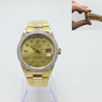Rolex Or jaune Remontage automatique Champagne 36mm occasion Day-Date 36
