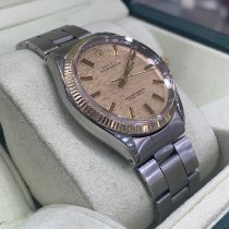 Rolex Oyster Perpetual 34 Gold/Steel 34mm Champagne No numerals
