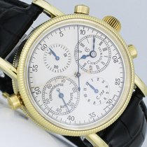 Chronoswiss Chronograph Rattrapante Yellow gold 38mm Silver