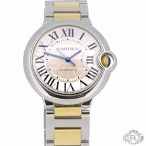 Cartier Ballon Bleu 36mm   Steel and Gold Mid-Size Ladies  ...