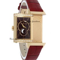 Jaeger-LeCoultre Rose gold Manual winding Silver Arabic numerals 40.1mm new Reverso Duetto