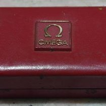 Omega vintage watch box leather red  for women models