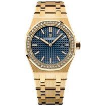 Audemars Piguet Royal Oak Lady Yellow gold 33mm Blue No numerals UAE, Dubai