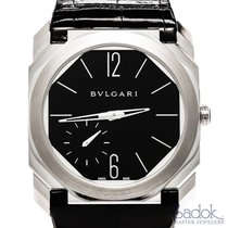 Bulgari Octo Finissimo 950 Platinum Men's Manual Watch Black...