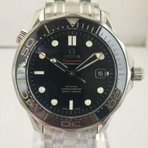 Omega Mens Seamaster Diver 300M black ceramic bezel steel