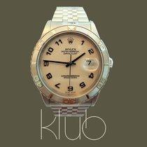 Rolex Datejust Turn-O-Graph Staal 36mm Wit Arabisch