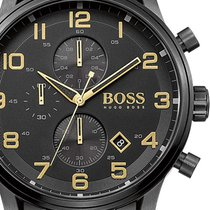 Hugo Boss Chronograph 44mm Quarz neu Gold