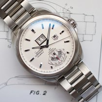 TAG Heuer Grand Carrera Steel White No numerals United States of America, Virginia, Sterling