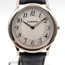 L.Leroy Oro blanco 41mm Cuerda manual 31 KA 0028 usados
