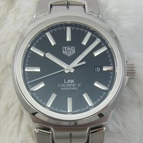 TAG Heuer Link Calibre 5 Steel 41mm Black No numerals