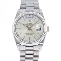 Rolex Day-Date 36 White gold 36mm Silver United States of America, Georgia, Atlanta