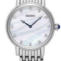 Seiko Steel Quartz Mother of pearl 29.5mm new