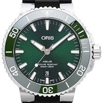 Oris Steel Automatic Green No numerals 43.5mm new Aquis Date