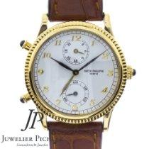 Patek Philippe Travel Time Yellow gold 34mm White