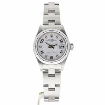 Rolex Oyster Perpetual Lady Date Сталь 26mm Белый Без цифр