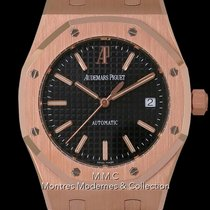 Audemars Piguet Royal Oak Selfwinding Or rose 39mm Noir Sans chiffres France, Paris