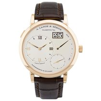 A. Lange & Söhne Rose gold Manual winding Silver 40.9mm new Grand Lange 1