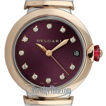 Bulgari Lucea Gold/Steel 33mm Purple United States of America, New York, Airmont