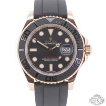 Rolex Yacht-Master | Rose Gold with Rubber Strap | 40mm 116655