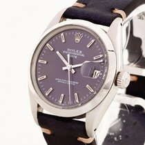 Rolex Oyster Perpetual Date 1980 Stahl an Vintage-Lederband...