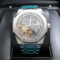 Audemars Piguet Royal Oak Double Balance Wheel Openworked new 2017 Automatic Watch with original box and original papers 15407ST.OO.1220ST.01