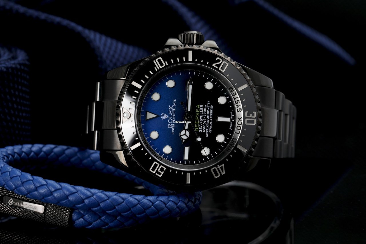 Rolex D,Blue Sea,Dweller Deepsea Black PVD