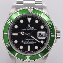 Rolex Submariner 50th Green Bezel Kermit Oval O F-Serial 16610LV