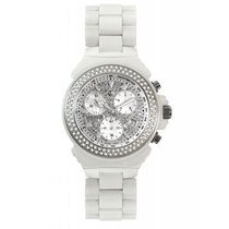 Lancaster Italy Diamond Ceramic Chronograph white Watch 1.83...