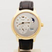 Glashütte Original PanoMaticLunar XL Ouro rosa 42mm Prata Sem números