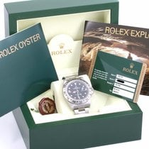 Rolex Explorer II - 40mm 16570 - Engraved - Black - Box & Card