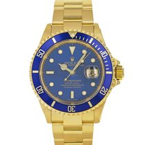 Rolex Submariner Date Yellow gold 40mm Blue No numerals United States of America, Maryland, Baltimore, MD