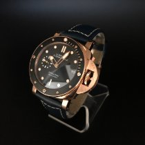 Panerai Rose gold Automatic Black 42mm pre-owned Luminor Submersible 1950 3 Days Automatic