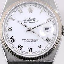 Rolex Datejust Oysterquartz Acél 36mm Fehér Számjegyek nélkül