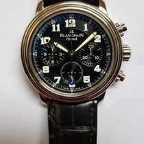 Blancpain Léman Fly-Back Witgoud 38mm Zwart Arabisch