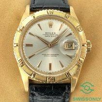 Rolex Datejust Turn-O-Graph Gelbgold 36mm Silber Keine Ziffern