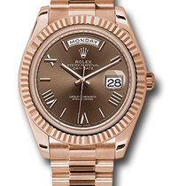 Rolex Red gold Automatic Brown 40mm new Day-Date 40