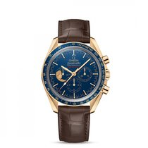 Omega Yellow gold Manual winding Blue 42mm new Speedmaster Professional Moonwatch