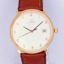 Omega De Ville Mens OMEGA DeVille 18K gold plated quartz C1430 Ref 1960312 1995 usados
