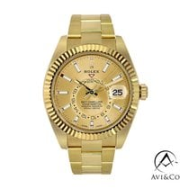 Rolex Sky-Dweller Yellow gold 42mm Champagne No numerals United States of America, New York, New York