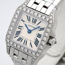 Cartier Santos Demoiselle 18K Solid White Gold Diamonds