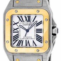 Cartier Santos 100 XL Auto Men 18kt Yellow Gold & Steel Watch...
