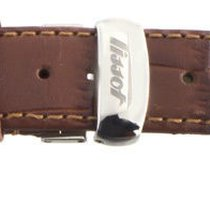 Tissot 18mm Men's Brown Leather Watch Band Strap W/ Steel...