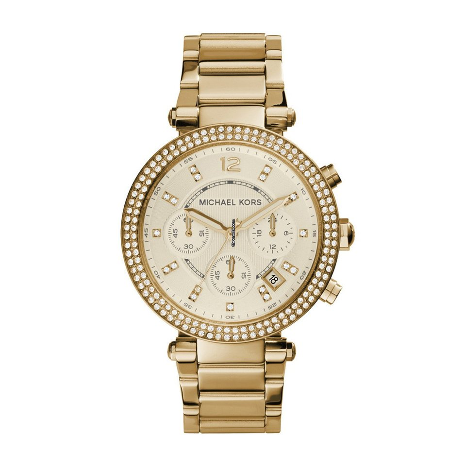 michael kors mk5354 ladies parker chronograph watch for aed 547 for sale from a seller on chrono24. Black Bedroom Furniture Sets. Home Design Ideas