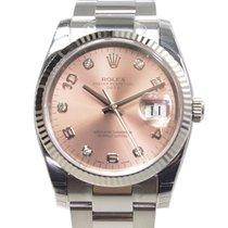 勞力士 Oyster Perpetual Date White Gold And Steel Pink Automatic...